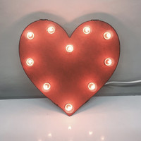 MINI HEART MARQUEE Love Sign made of Rusted Recycled Metal Vintage Inspired