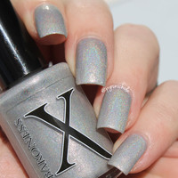 Sofa King Cold - Icy Grey Holo with Blue Flakies and Red to Gold Shimmer