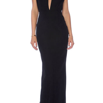SELENE MAXI DRESS in BLACK