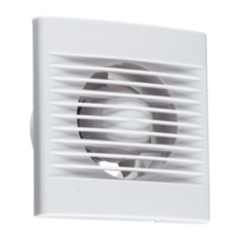 "KB EX001T 100MM/4"" EXTRACTOR FAN WITH OVERRUN TIMER - WHITE"