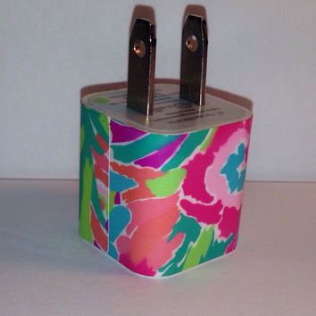 Lilly Pulitzer Inspired Lulu USB Iphone Wall Charger