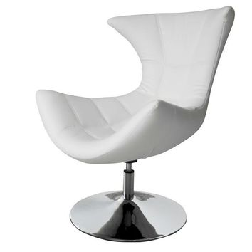 Charlotte Swivel Chair White eco leather