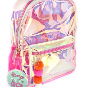 3 Happy Hooligans: Backpack - Iridescent Pink