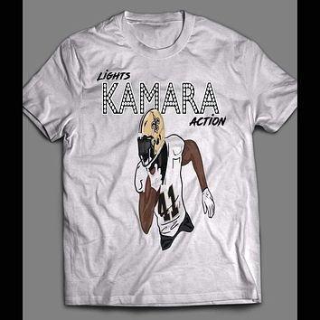 "NEW ORLEANS RB, ALVIN KAMARA ""LIGHTS, KAMARA, ACTION HOLLYWOOD STYLE SHIRT"
