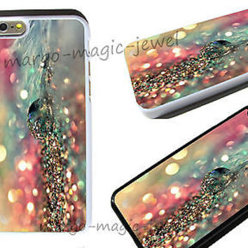cover case fits iPhone,iPod models,colorful,feather,drop,glitter,rainbow,sparkle