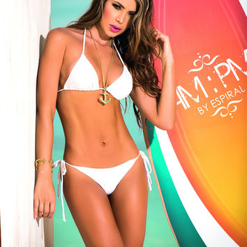 Itsy Bitsy Teenie Weenie Bikini With Triangle Top -Thong Bottom