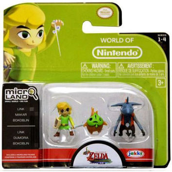 World of Nintendo Micro Land Series 4 Link, Makar & Bokoblin Mini Figure 3-Pack