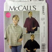 "Women's Capes by Designer Nancy Zieman McCall's M6447 Plus Size 18, 20, 22, 24 Bust 40, 42, 44, 46"" Easy Sewing Pattern Uncut"