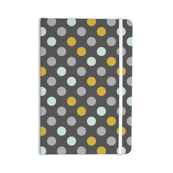 "Pellerina Design ""Minty Polka"" Gray Everything Notebook"