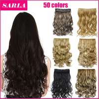 Synthetic Clip In Hair Extensions Curly Wavy Heat Resistant Hairpiece Natural Hair Extension