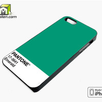 Pantone Emerald iPhone 5s Case Cover by Avallen
