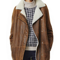 THEORY Datyah Coat in Marne Shearling