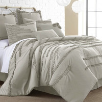 8 Piece Collete Linen Comforter Set (King)