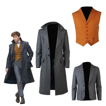 Cool Fantastic Beasts Cosplay and Where to Find Them2 Costume Newt Scamander Bulma Carnival Adult Costumes Halloween Fantastic AnimalAT_93_12