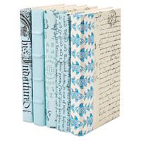 Designer Books, Light Blue, Set of 5, Decorative Books & Bindings