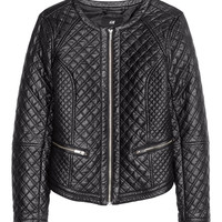 H&M - Biker Jacket - Black - Ladies