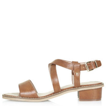 HEARTBEAT Heeled Sandals - Tan