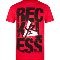 Young & Reckless Pyramid Mens T-Shirt Red  In Sizes