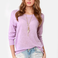 Beachcomber Oversized Lavender Sweater