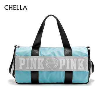 Girl Duffle Bag Large Capacity Waterproof Victoria New Fashion Stripe Design Secret Beach Men Women Shoulder Travel Bag SS0362