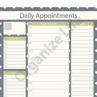 Daily Appointment Planner - Printable PDF