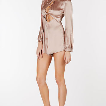 Long Ago Satin Romper