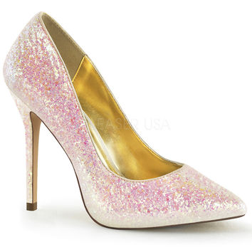 Amuse Multi Glitter Pointy Slip-On Pumps