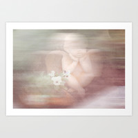 Dreaming Angel Art Print by LoRo  Art & Pictures