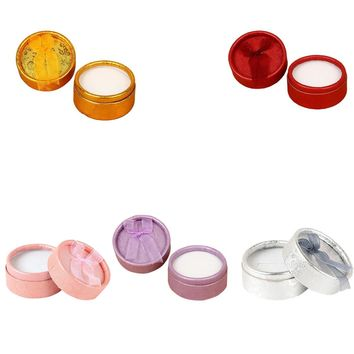 5PCS Colorful Round Shape Small Jewellery Gift Case Boxes for Ring Earrings Jewelry Display