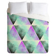 Allyson Johnson Painted Triangles Duvet Cover