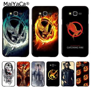 MaiYaCa The Hunger Games movie Logo Coque Shell Phone Case  for Samsung J1 J3 J5 J7 Note 3 Note 4 Note 5