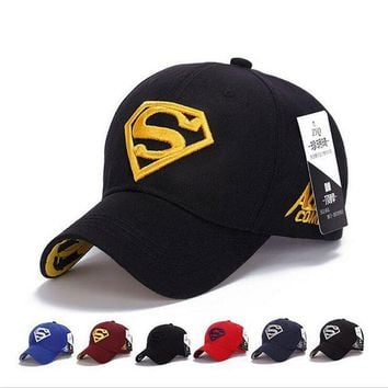 PEAPON 2017 NEW Brand SUPERMAN Polo Snapback Mens Baseball Caps Women Fitted Adjustable Hat G