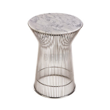 Reproduction of Warren Platner's Side Table w/ Natural Marble Top | GFURN