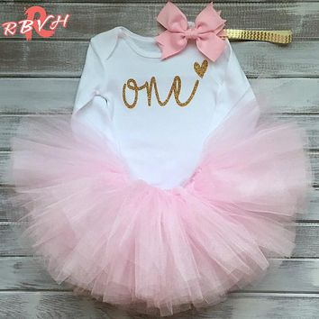 Newborn Baby Girl Clothes Clothing Sets One Year Birthday Outfit Toddler Girl Clothes Kids Party Wear Costume