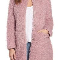 Via Spiga Reversible Faux Fur Coat | Nordstrom