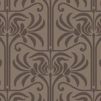 Surya Natura NAT7057 Black/Neutral Medallion and Damask Area Rug