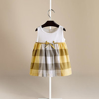 Check Skirt Cotton Dress