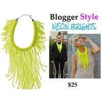 Bold Bright Beaded Statement Necklace