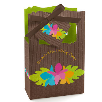 Luau - Personalized Birthday Party Favor Boxes