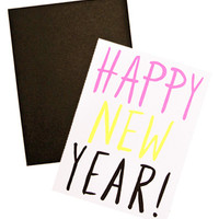 Neon New Year Card Set