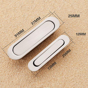 Alloy Metal Silver Invisible Door Handles For Kitchen Cabinet Cupboard Wardrobe Drawer Pull Knobs Kitchen Accessories