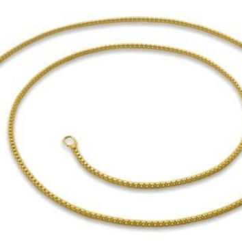 1mm box chain- Italian 14k yellow gold layered over .925 sterling silver