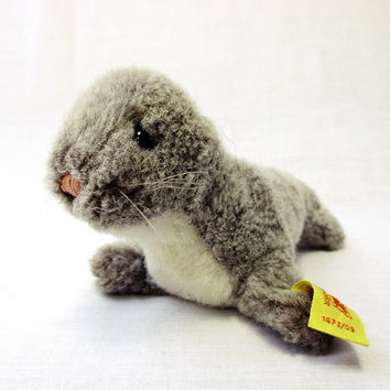 Vintage Steiff Original Classic Robby Seal Stuffed Toy