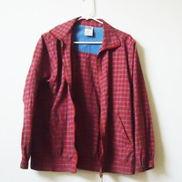 Vintage Plaid Oversized Jacket