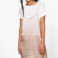 Lucy 2 in 1 T-Shirt With Satin Slip Dress