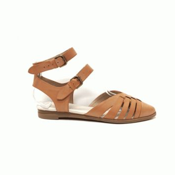 Keep your feet feeling marvelous in these Stylish R-Lets Go Pointy Toe Ankle Straps Flat Sandals by Restricted Footwear. Featuring leatherette upper & leather underlining, strappy design at vamp, low stacked heel, double adjustable ankle strap with buckle