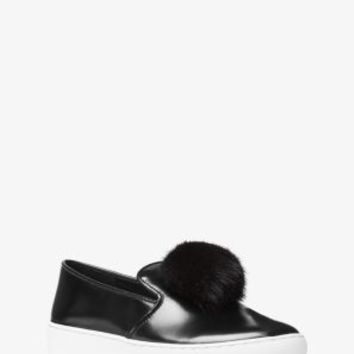 Eddy Pom-Pom Leather Slip-On | Michael Kors
