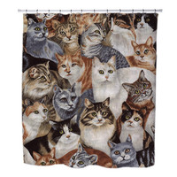 Cats Face custom Shower Curtains