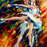 "Romeo and Juliet — PALETTE KNIFE1 Oil Painting On Canvas By Leonid Afremov - Size: 30"" x 24"" from afremov art"