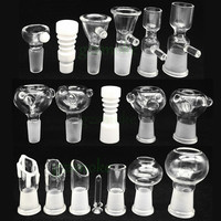 Male and Female smoking accessory 18mm 14mm glass bowl for gongs Assorted Glass Bowl With Handle Water Smoking Pipe Accessory Supply bong
